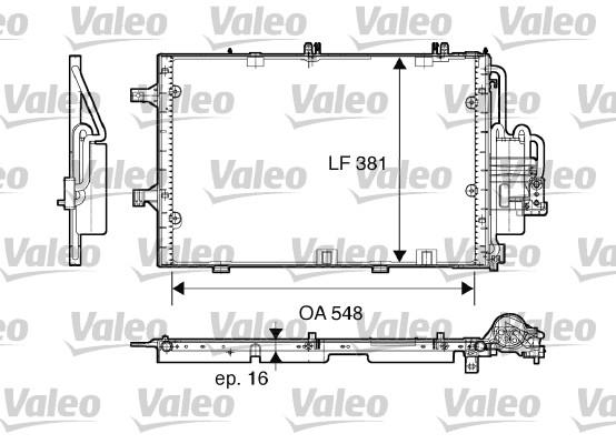 Condenseur, climatisation - VALEO - 817609