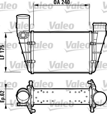 Intercooler, échangeur - VALEO - 817625
