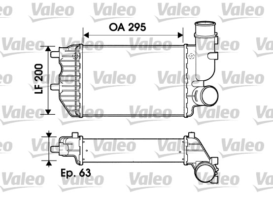 Intercooler, échangeur - VALEO - 817632