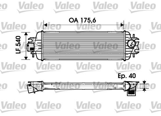 Intercooler, échangeur - VALEO - 817636