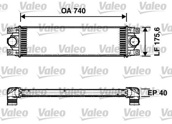 Intercooler, échangeur - VALEO - 817637