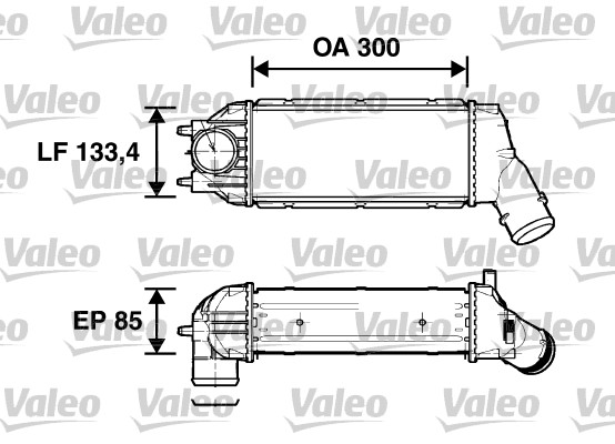 Intercooler, échangeur - VALEO - 817638