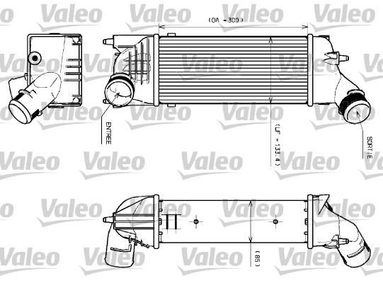 Intercooler, échangeur - VALEO - 817639