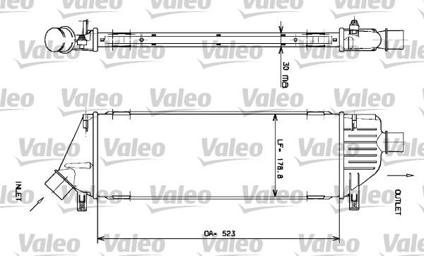 Intercooler, échangeur - VALEO - 817640
