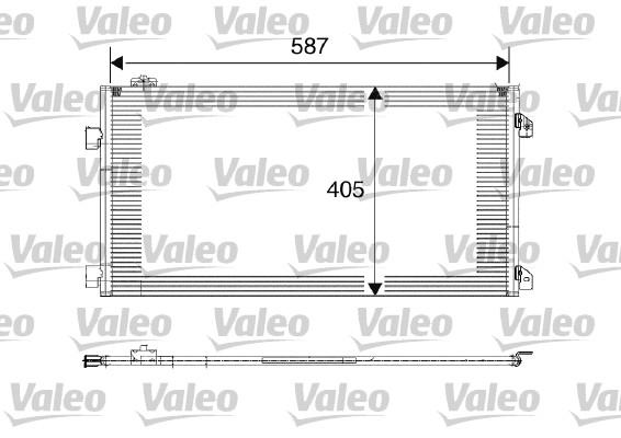Condenseur, climatisation - VALEO - 817646