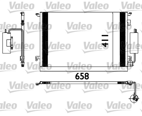 Condenseur, climatisation - VALEO - 817648