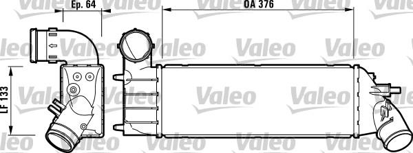 Intercooler, échangeur - VALEO - 817650