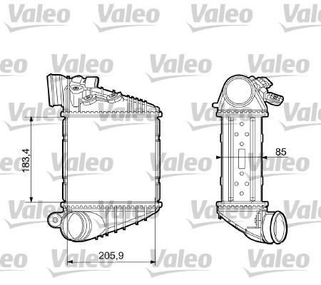 Intercooler, échangeur - VALEO - 817653