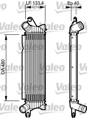 Intercooler, échangeur - VALEO - 817654