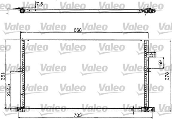 Condenseur, climatisation - VALEO - 817657