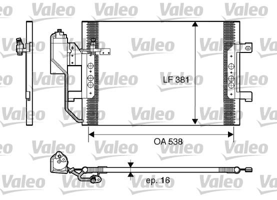 Condenseur, climatisation - VALEO - 817659