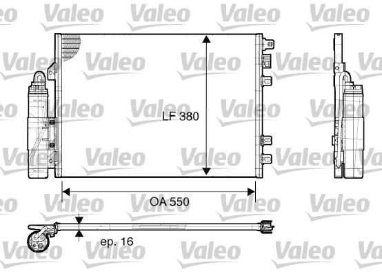 Condenseur, climatisation - VALEO - 817661