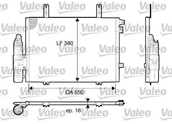 Condenseur, climatisation - VALEO - 817662