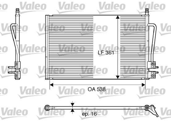 Condenseur, climatisation - VALEO - 817664