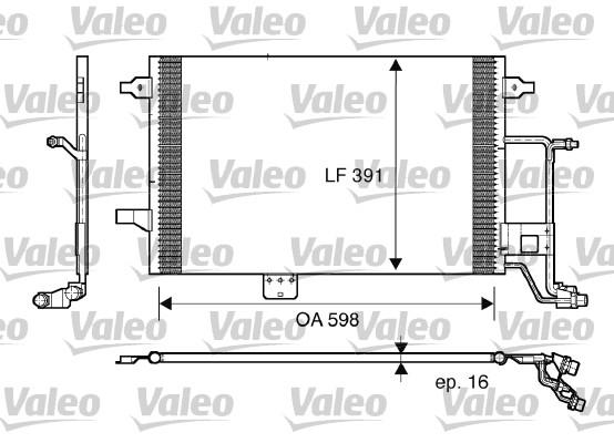 Condenseur, climatisation - VALEO - 817665