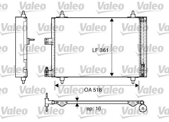 Condenseur, climatisation - VALEO - 817667