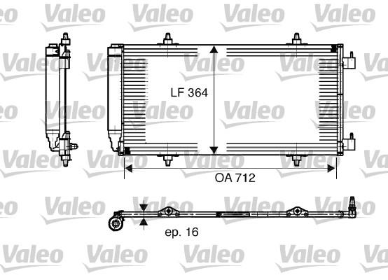 Condenseur, climatisation - VALEO - 817668
