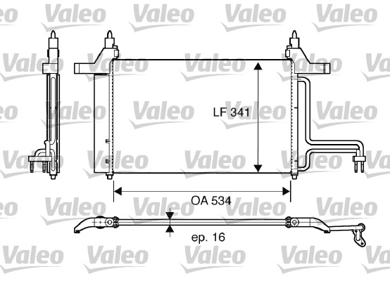 Condenseur, climatisation - VALEO - 817669