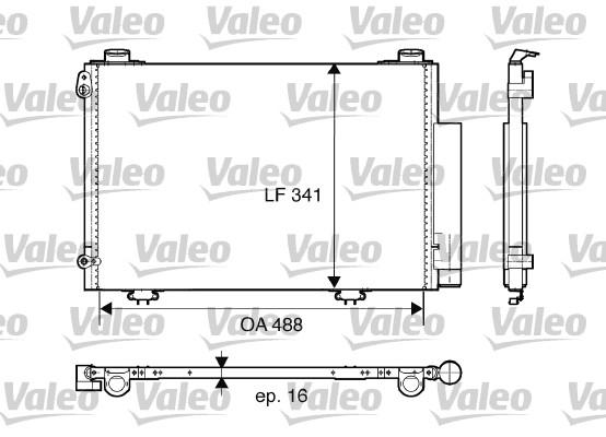 Condenseur, climatisation - VALEO - 817674