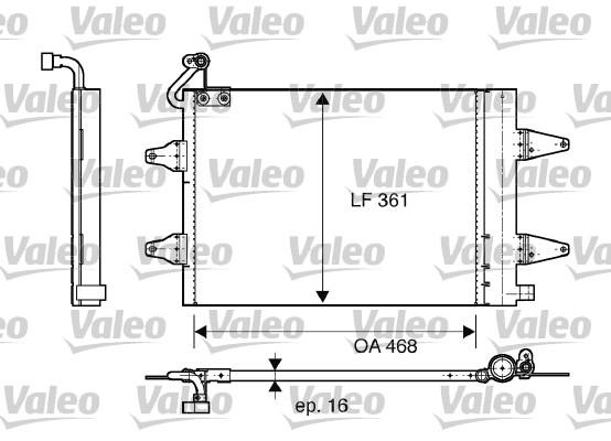 Condenseur, climatisation - VALEO - 817686