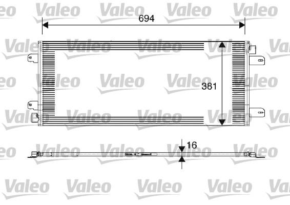 Condenseur, climatisation - VALEO - 817689