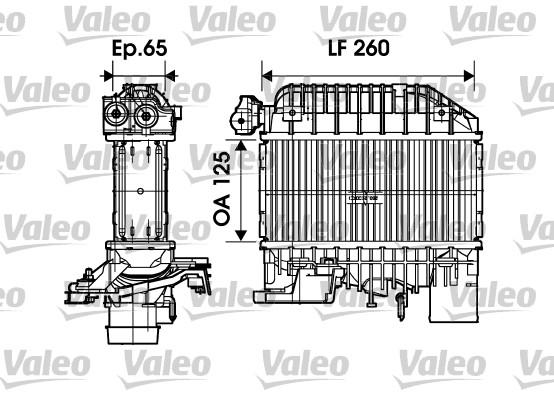 Intercooler, échangeur - VALEO - 817698