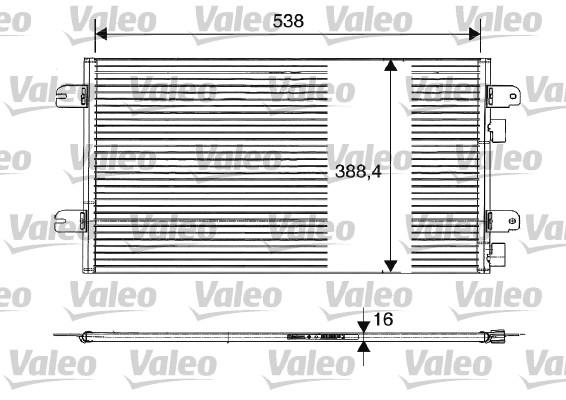 Condenseur, climatisation - VALEO - 817701