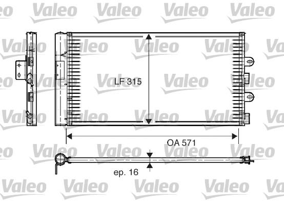 Condenseur, climatisation - VALEO - 817703