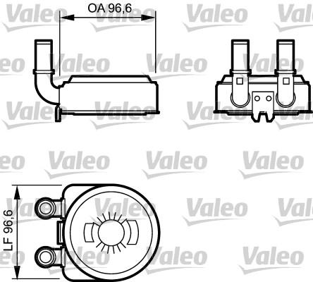 Radiateur d'huile - VALEO - 817705