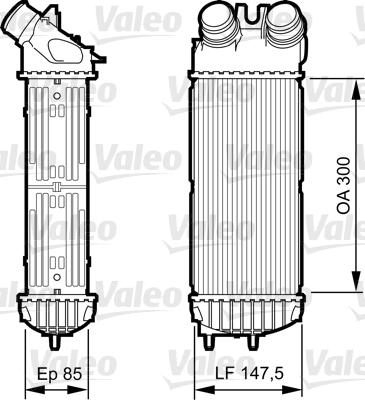 Intercooler, échangeur - VALEO - 817706