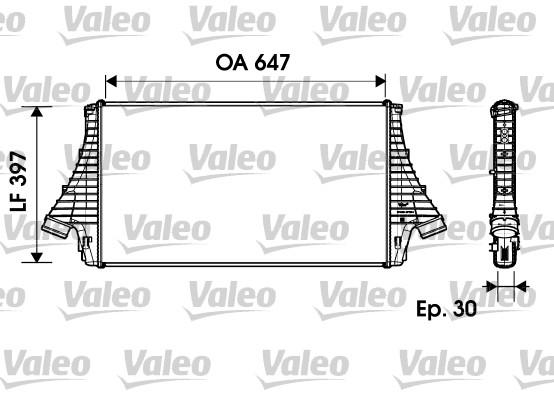 Intercooler, échangeur - VALEO - 817729