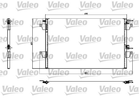 Condenseur, climatisation - VALEO - 817731
