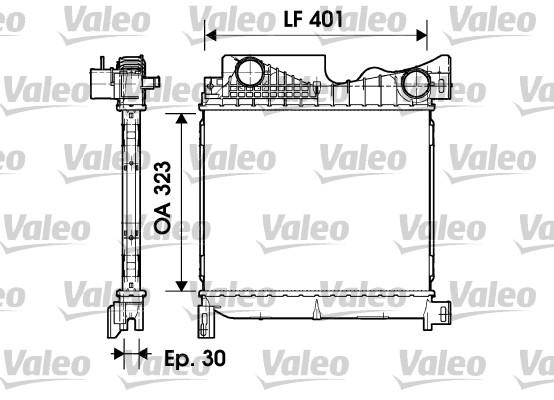 Intercooler, échangeur - VALEO - 817736