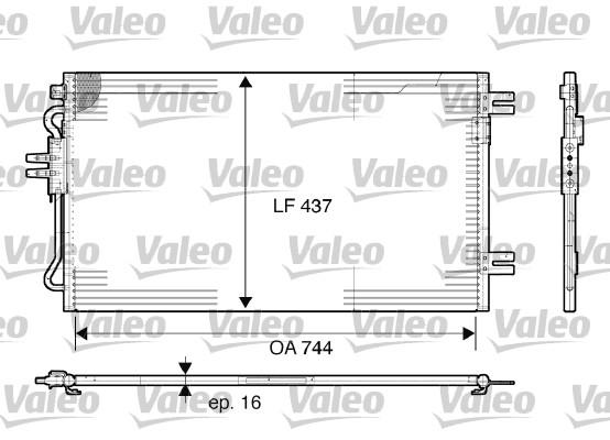 Condenseur, climatisation - VALEO - 817739