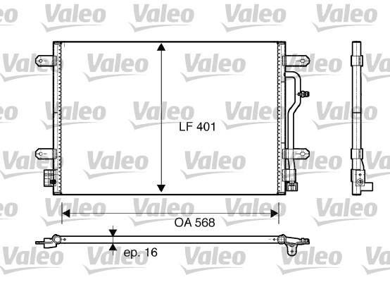 Condenseur, climatisation - VALEO - 817741