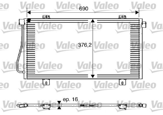 Condenseur, climatisation - VALEO - 817742