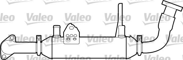Radiateur, réaspiration des gaz d'échappement - VALEO - 817748
