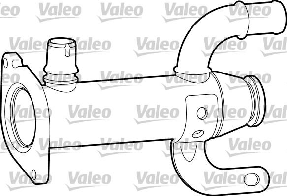 Radiateur, réaspiration des gaz d'échappement - VALEO - 817753