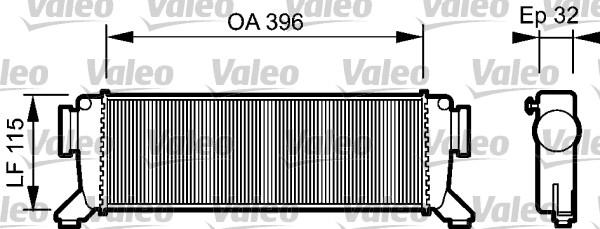 Intercooler, échangeur - VALEO - 817759