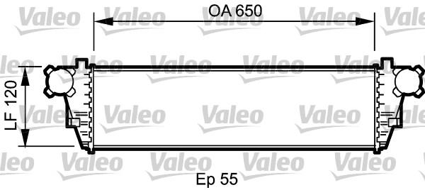Intercooler, échangeur - VALEO - 817760
