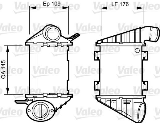 Intercooler, échangeur - VALEO - 817764