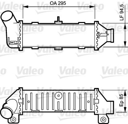 Intercooler, échangeur - VALEO - 817766