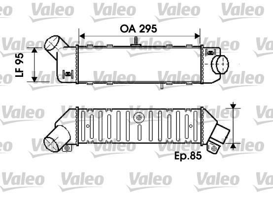 Intercooler, échangeur - VALEO - 817767
