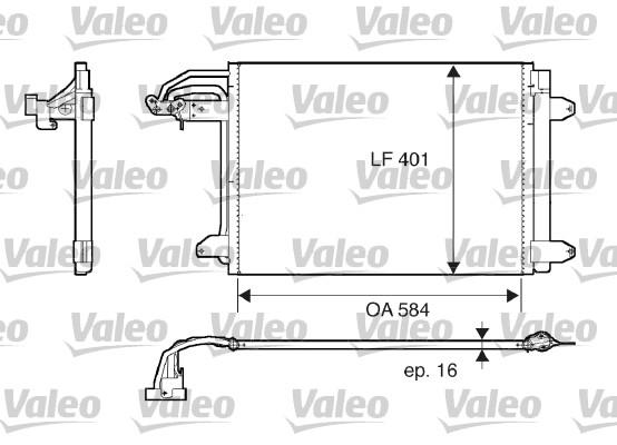 Condenseur, climatisation - VALEO - 817777