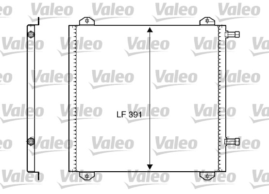 Condenseur, climatisation - VALEO - 817799