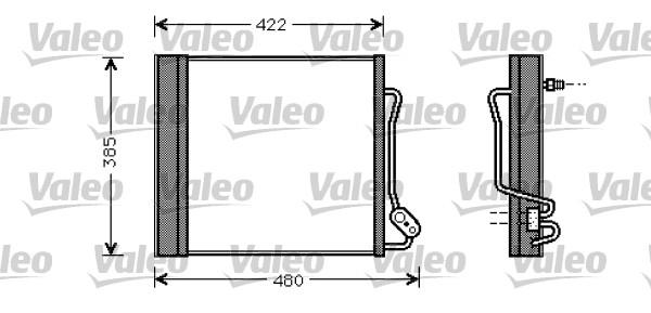 Condenseur, climatisation - VALEO - 817801