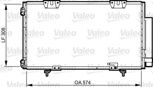 Condenseur, climatisation - VALEO - 817802