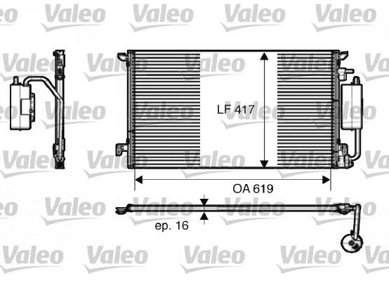 Condenseur, climatisation - VALEO - 817809