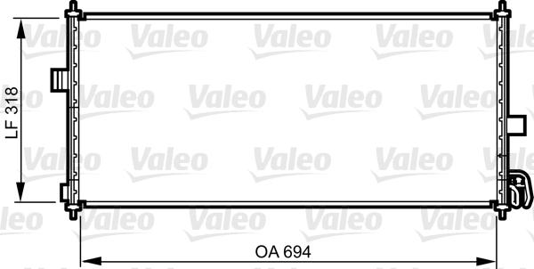 Condenseur, climatisation - VALEO - 817819