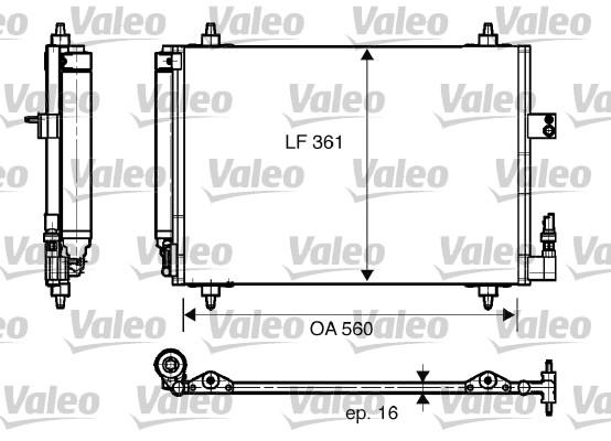 Condenseur, climatisation - VALEO - 817824